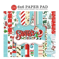Εικόνα του Carta Bella Double-Sided Paper Pad 15x15 - Santa's Workshop
