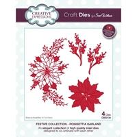 Εικόνα του Creative Expressions Festive Craft Dies - Poinsettia Garland