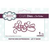Εικόνα του Creative Expressions Festive Mini Craft Dies - Let It Snow