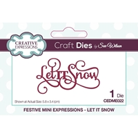 Εικόνα του Creative Expressions Festive Mini Craft Dies - Let It Snow