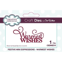 Εικόνα του Creative Expressions Festive Mini Craft Dies - Warmest Wishes
