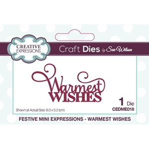 Picture of Creative Expressions Festive Mini Craft Dies - Warmest Wishes