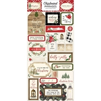 Εικόνα του Carta Bella Christmas Chipboard - Phrases