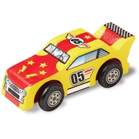 Εικόνα του Melissa & Doug Decorate Your Own Wooden Kit - Race Car