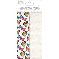 Εικόνα του Simply Creative Χαρτί Decoupage - Vibrant Butterflies