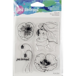 Picture of Jane Davenport Artomology Clear Stamps - Poppy Girl