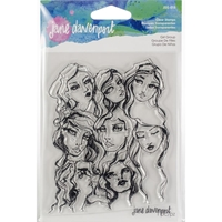 Εικόνα του Jane Davenport Artomology Clear Stamps - Girl Group