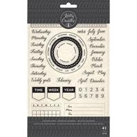 Εικόνα του Kelly Creates Acrylic Traceable Stamps - Calendar