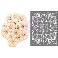 Εικόνα του Lavender Frost Mulberry Paper Flowers - Garden Petals