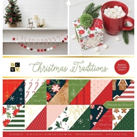 "Εικόνα του DCWV Double-Sided Cardstock Stack 12""X12"" - Christmas Traditions"