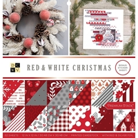 "Εικόνα του DCWV Double-Sided Cardstock Stack 12""X12"" - Red & White Christmas"