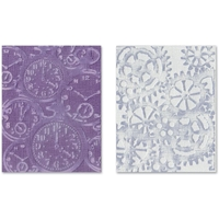 Εικόνα του Sizzix Texture Fades Embossing Folder By Tim Holtz - Clock & Steampunk