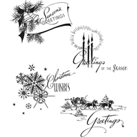 Εικόνα του Tim Holtz Cling Mounted Stamp - Holiday Greetings