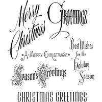 Εικόνα του Tim Holtz Cling Mounted Stamp - Christmastime