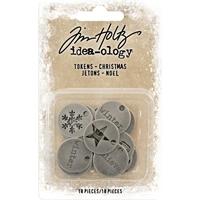 Εικόνα του Idea-Ology Metal Typed Tokens - Christmas Words