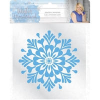 Εικόνα του Winter Wonderland Embossing Folder - Graceful Snowflake