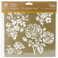 Εικόνα του Couture Creations Arabesque Stencil 8''x8'' - Secret Garden Damask