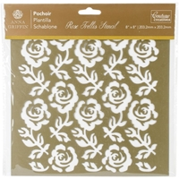 Εικόνα του Couture Creations Arabesque Stencil 8''x8'' - Rose Trellis