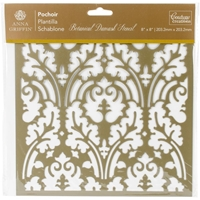 Εικόνα του Couture Creations Arabesque Stencil 8''x8'' - Botanical Damask