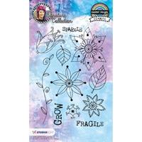 Εικόνα του Studio Light Mixed Media Rainbow Designs Stamps - Set 14