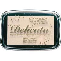 Εικόνα του Μελάνι Delicata Pigment Ink Pad - White Shimmer