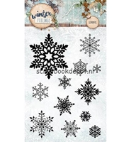 Εικόνα του Σετ Σφραγίδες Studio Light Winter Feelings A6 - Snowflakes
