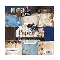 Εικόνα του Studio Light Paper Pad 6''x6'' - Winter Trails II