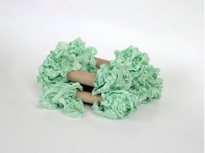 Picture of Shabby Crinkled Seam Binding Ribbon - Mint Leaf