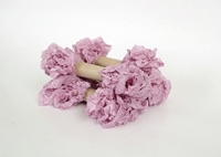 Εικόνα του Shabby Crinkled Seam Binding Ribbon - Mauve Mist