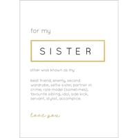 Εικόνα του Kaisercraft Kaiser Style Ευχετήριες Κάρτες - Sister