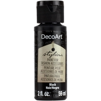 Εικόνα του DecoArt Stylin Multi Purpose Ακρυλικό Χρώμα για Δέρμα 59ml - Black