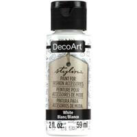 Εικόνα του DecoArt Stylin Multi Purpose Ακρυλικό Χρώμα για Δέρμα 59ml - White