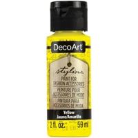 Εικόνα του DecoArt Stylin Multi Purpose Ακρυλικό Χρώμα για Δέρμα 59ml - Yellow