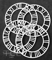 Εικόνα του Tando Creative Chipboard - 4 Small Clocks