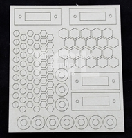 Εικόνα του Tando Creative Chipboard - Andy Skinner Industrial Elements Bolts & Washers Sheet