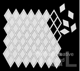 Εικόνα του Tando Creative Chipboard - Grid Diamond