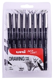 Εικόνα του Uniball Drawing Pens - Set of 8