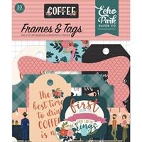 Εικόνα του Coffee Cardstock Die Cuts - Frames & Tags