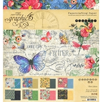 """Εικόνα του Graphic 45 Double-Sided Paper Pad 8""""X8""""  - Flutter"""