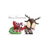 Εικόνα του Stamping Bella Cling Stamps - Reindeer With A Gift Stuffie