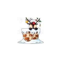 Εικόνα του Stamping Bella Cling Stamps - Peekaboo Reindeer Stuffie