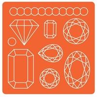 Εικόνα του Καλουπια Σιλικόνης Mod Podge - Gems