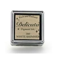 Εικόνα του Μελάνι Delicata Small Pigment Ink Pad - White Shimmer