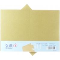 Εικόνα του Craft UK Κάρτες και Φάκελοι 5x7 - Kraft