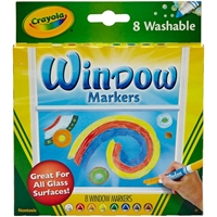 Εικόνα του Πλενόμενοι Μαρκαδόροι Για Παράθυρα Crayola Washable Window Markers