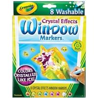 Εικόνα του Πλενόμενοι Μαρκαδόροι Για Παράθυρα Crayola Crystal Effects Washable Window Markers