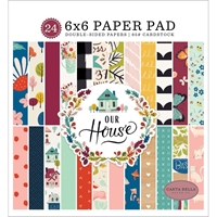 "Εικόνα του Carta Bella Double-Sided Paper Pad 6""X6"" - Our House"