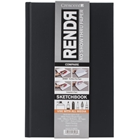 Εικόνα του RENDR No Show Thru Hard Bound Sketch Book 14X21.6cm - Μπλοκ για Μαρκαδόρο