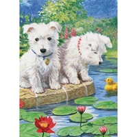 Εικόνα του Royal & Langnickel Mini Color Pencil By Number Kit - Westie Pups