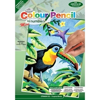 Εικόνα του Royal & Langnickel Mini Color Pencil By Number Kit - Tropical Birds